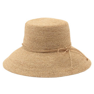 ムジルシリョウヒン(MUJI (無印良品))の新品  無印良品  サイズ調整できるラフィアたためるつば広キャペリン (麦わら帽子/ストローハット)