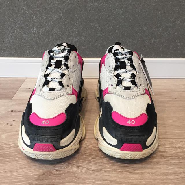 Balenciaga(バレンシアガ)のゆりぽこ様専用 balenciaga triple s pink EU40  レディースの靴/シューズ(スニーカー)の商品写真