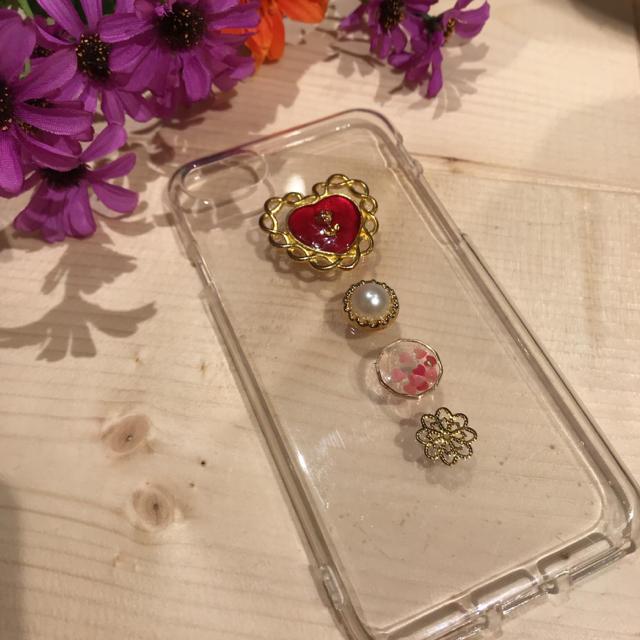 ハンドメイドiPhoneケース ハンドメイドのスマホケース/アクセサリー(スマホケース)の商品写真
