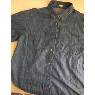 ジーユー(GU)のGU 半袖デニムシャツ(s)(シャツ/ブラウス(半袖/袖なし))