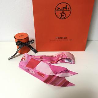 エルメス(Hermes)の新品 エルメス ツイリー サーフボード ピンク(バンダナ/スカーフ)