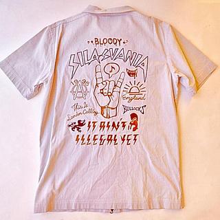 サイラス(SILAS)のSILASサイラス 半袖 ブルゾン ストライプ ジップアップ ジャケット シャツ(シャツ)