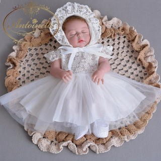 赤ちゃん お宮参り ドレス 海外デザイン 可愛い オーガンジー コットン(お宮参り用品)