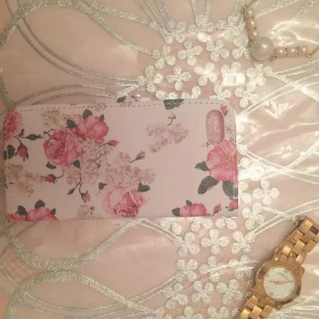 ❁︎ ハンドメイド ❁︎ バラ 折りたたみ アイフォーンケース ハンドメイドのスマホケース/アクセサリー(スマホケース)の商品写真