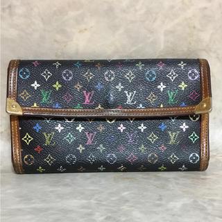 ルイヴィトン(LOUIS VUITTON)の正規品 ヴィトン 財布 インターナショナル M92658 マルチカラーモノグラム(財布)
