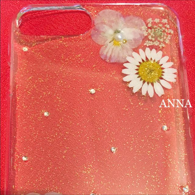 フラワーレース 押し花 iPhoneケース Androidケース ハンドメイドのスマホケース/アクセサリー(スマホケース)の商品写真