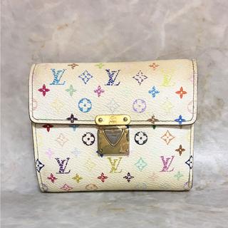 ルイヴィトン(LOUIS VUITTON)の正規品 ヴィトン 財布 ポルトフォイユ コアラ M58014 マルチカラー 白 (財布)