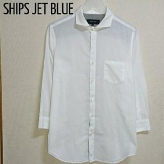シップスジェットブルー(SHIPS JET BLUE)のSHIPS JET BLUE 七分袖 白シャツ 薄手(シャツ)