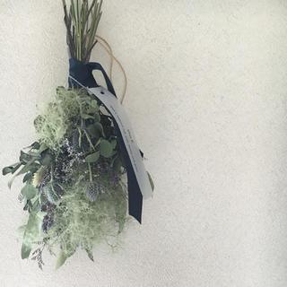 【ねいの様専用】green × blue・ドライフラワースワッグ(ドライフラワー)