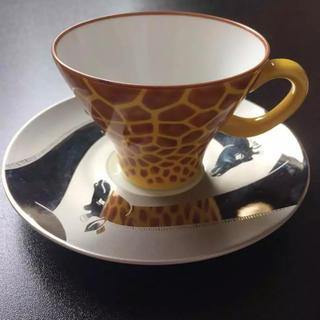 コウランシャ(香蘭社)の香蘭社 ジラフ カップ&ソーサー(グラス/カップ)