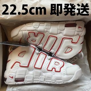 ナイキ(NIKE)の【22.5cm】NIKE AIR MORE UPTEMPO GS ホワイト 赤(スニーカー)