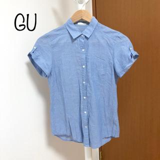 ジーユー(GU)のGU 半袖 デニムシャツ(シャツ/ブラウス(半袖/袖なし))