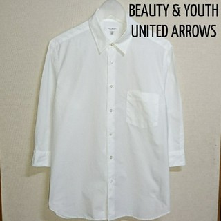 BEAUTY&YOUTH UNITED ARROWS - BEAUT & YOUTH 7分袖 白シャツ