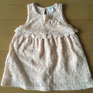 エイチアンドエム(H&M)のH&M ピンク ワンピース レース 夏 74 美品 女の子 ドレス(ワンピース)