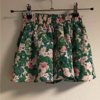 ジーユー(GU)のジーユー G U キュロット 美品 120cm 花柄(スカート)