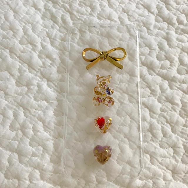 antique ribbon iphone case🐻🎗 ハンドメイドのスマホケース/アクセサリー(スマホケース)の商品写真