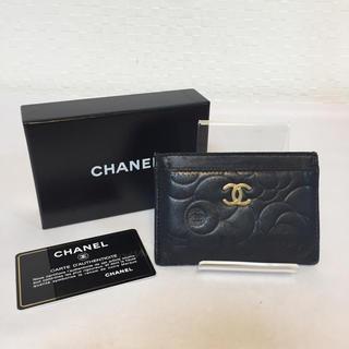 シャネル(CHANEL)のCHANEL シャネル カメリア カードケース (名刺入れ/定期入れ)