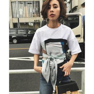 アメリヴィンテージ(Ameri VINTAGE)のAmeri♡ MEDI DRAWING UNEVEN TEE(Tシャツ(半袖/袖なし))