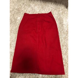 ドゥファミリー(DO!FAMILY)の赤 スカート(ひざ丈スカート)