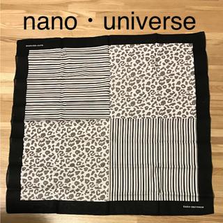 ナノユニバース(nano・universe)の新品 nano・universe ナノユニバース 大判スカーフ(バンダナ/スカーフ)
