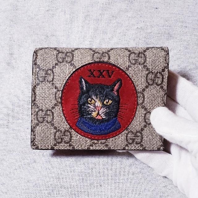official photos d5762 48f59 🆕GUCCI ❗ミスティック CAT GGスプリーム mini財布🐾 | フリマアプリ ラクマ