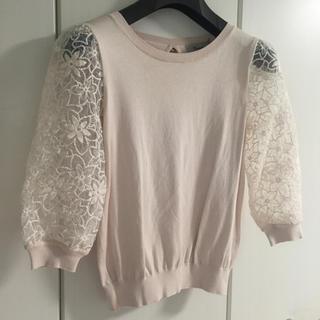 リランドチュール(Rirandture)のRirandture 袖フラワー刺繍透けニット(ニット/セーター)