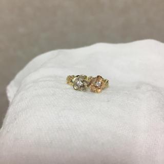 値下げ中!ハワイアンリング 14K プルメリア ピングゴールド ホワイトゴールド(リング(指輪))