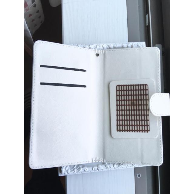 ブーケ 手帳型 スマホケース ハンドメイドのスマホケース/アクセサリー(スマホケース)の商品写真