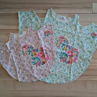 バナバナ(VANA VANA)の美品♥120&160親子コーデ♥バナバナ★ポンチョカットソーset(Tシャツ/カットソー)
