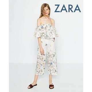 ザラ(ZARA)のsale!新品タグ付☆ZARAザラ☆刺繍ギュピュールレースワイドパンツ(その他)