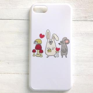 動物ときのこ  スマホケース  iPhone8  多機種対応(スマホケース)