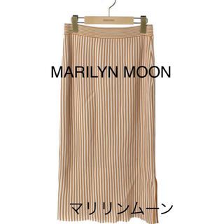 マリリンムーン(MARILYN MOON)の【ako様専用】MARILYN MOONストライプ★マキシ丈スカート(ひざ丈スカート)