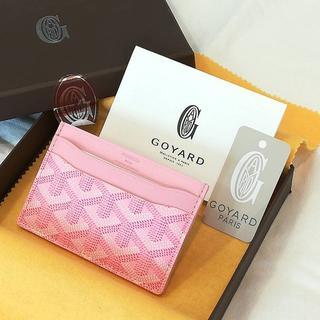 ゴヤール(GOYARD)の未使用品 ゴヤール カードケース ピンク オーダーカラー 箱 ICカードケース(名刺入れ/定期入れ)