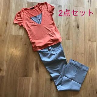 アナイ(ANAYI)の6/15までSALE【2点セット】アナイ Tシャツ& クードシャンス パンツ(Tシャツ(半袖/袖なし))