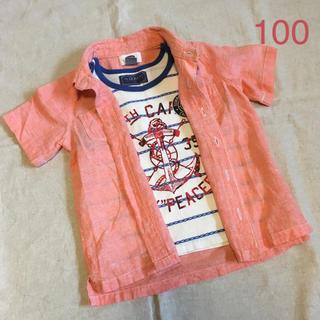イッカ(ikka)の100サイズ ランニング&半袖シャツセット イッカ グローバルワーク(Tシャツ/カットソー)