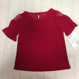 シマムラ(しまむら)のしまむら 数量限定品 Sサイズ  Tカット肩レースPO(カットソー(半袖/袖なし))