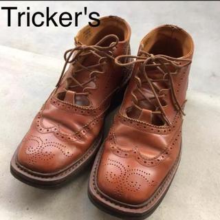 トリッカーズ(Trickers)のTricker's スクエアトゥ  ミドルブーツ(ブーツ)