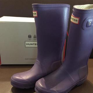ハンター(HUNTER)の915様専用ハンターレインブーツ 子供用 パープル (長靴/レインシューズ)