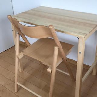 ムジルシリョウヒン(MUJI (無印良品))の無印良品☆折りたたみパイン材デスク(折たたみテーブル)