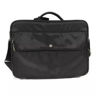 アイグナー(AIGNER)の美品本物アイグナーAIGNERショルダーバッグビジネスバックメンズ旅行トラベル黒(ビジネスバッグ)