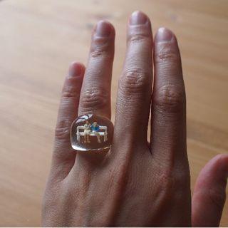 ビュルデサボン(bulle de savon)の一点物!ベンチに腰掛けたカップル☆リング(リング(指輪))