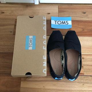 トムズ(TOMS)のリンちゃん様 TOMS classic ブラック キャンバス us6 23cm(スニーカー)