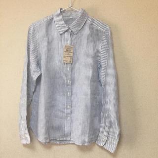 ムジルシリョウヒン(MUJI (無印良品))の未使用 無印良品 麻100% シャツ(シャツ/ブラウス(長袖/七分))