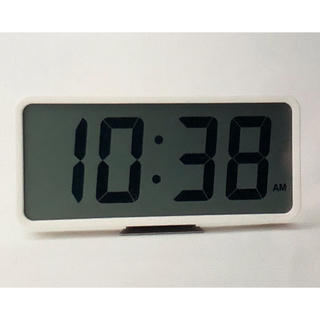 MUJI (無印良品) - 【 新品・未使用 】MUJI ( 無印良品 ) デジタル掛置時計・大  ホワイト
