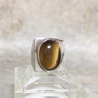 ルイヴィトン(LOUIS VUITTON)の正規品 ヴィトン 指輪 シュバリエール タイガーアイ シルバー リング 虎眼石(リング(指輪))