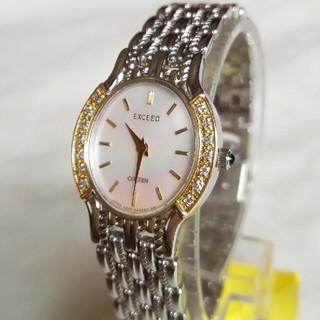CITIZEN - シチズン腕時計 美品エクシード 14Pダイヤ レディースクォーツ