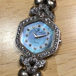 ウォルサム(Waltham)のウォルサム WALTHAM 750WG 無垢 レディース 腕時計 クオーツ(腕時計)