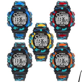 デジタルウォッチ 腕時計  黒、青のみ(腕時計(デジタル))