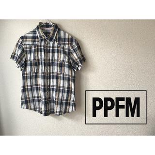ピーピーエフエム(PPFM)の【USED】PPFM レディース コットンリネン半袖シャツ Size M(シャツ/ブラウス(半袖/袖なし))