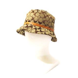 コーチ(COACH)のCOACH(コーチ)シグネチャー ハット 帽子 ベージュ レディース 15713(ハット)